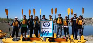 AA'nın kuruluş yıl dönümünü Meriç Nehri'nde kutladılar