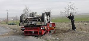 Kulu'da sulama arazözü devrildi: 1 yaralı