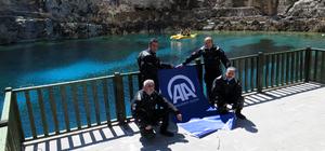AA'nın kuruluş yıl dönümüne doğal akvaryumda kutlama