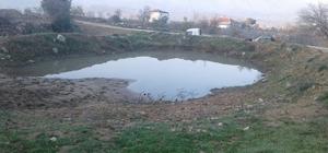Dindarlı Mahallesinin göleti temizlendi