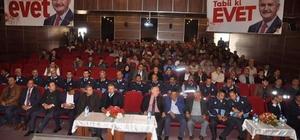 Başkan Pınarbaşı eveti anlatıyor