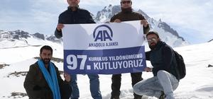 AA'nın kuruluş yıl dönümüne Erciyes'te kutlama