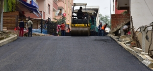 Altınordu'da asfalt çalışması sürüyor