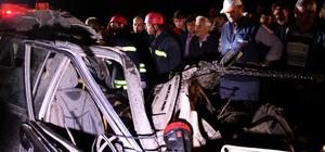 Ölümlü kaza sonrası karayolunu trafiğe kapattılar