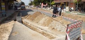 Serik'te cadde düzenleme çalışmaları