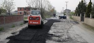 Akyazı Belediyesi asfalt çalışmaları hızla devam ediyor