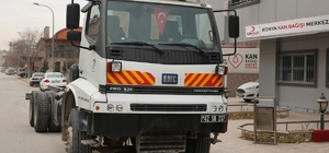Selçuklu'dan Kızılay'a mobil kan bağış aracı desteği