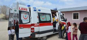 Korkuteli'de minik 112'ler 'Yaşama yol ver' dedi