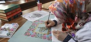 Rize'de öğrenciler ve öğretmenler tezhip kursunda buluşuyor