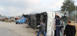Muğla'da yolcu otobüsü devrildi: 31 yaralı