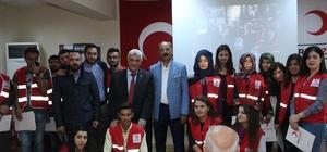 Türk Kızılayı gönüllülerine teşekkür belgesi verildi