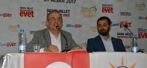 AK Partili Sürekli gençlere referandumu anlattı