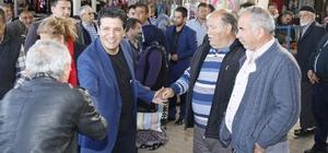 Başkan Genç pazarda vatandaşlarla kucaklaştı