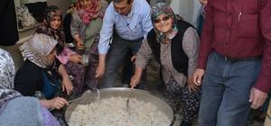 Aliağa'da şehitler için köy hayrı yemeği