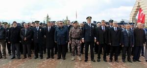 Sivas'ta polis şehitliğinde hüzünlü anma