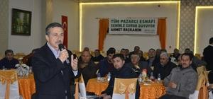 Başkan Ataç, pazarcılarla bir araya geldi