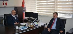 Başkan Eser'den İlçe Emniyet Müdürüne ziyaret