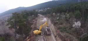 Dursunbey'de yol sorununa büyükşehirden çözüm