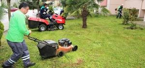 Başiskele'de çim biçme çalışmaları başladı