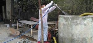 Eyüp'te larva ilaçlama çalışmaları başladı
