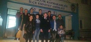 Mihalıççık Halk Eğitim Merkezi eğitim ve kursiyerlerinden polise ziyaret