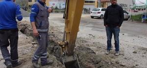Kazı çalışmasında doğalgaz borusu patladı