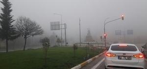 Aşırı sis sürücülere zor anlar yaşattı