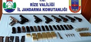 Rize'de kaçak silah üretilen eve operasyon