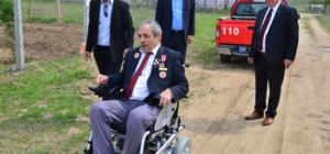 Kıbrıs gazisine akülü engelli aracı