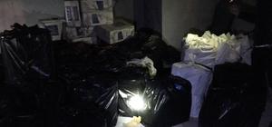 Van'da 55 bin paket kaçak sigara ele geçirildi