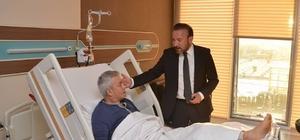 Başkan Doğan'dan, Körfez Belediyesi eski başkanı Pehlivan'a geçmiş olsun ziyareti