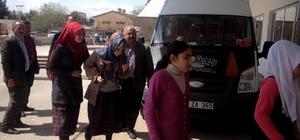 Sincik'ten 16 öğrenci daha hastaneye getirildi