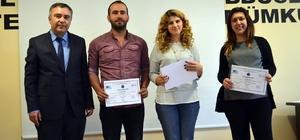 Didim'de 100 girişimci adayı sertifikalarını aldı
