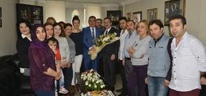 Kuaförler Meslek Odasından Başkan Ataç'a teşekkür plaketi verdi