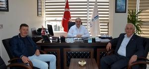 Şarköy Güzelköy Mahalle Muhtarından Genel Müdür Başa'ya ziyaret