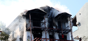 Lüks villadaki yangın güçlükle söndürüldü