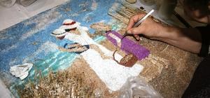 Taşlardan sanat eserleri yapıyorlar
