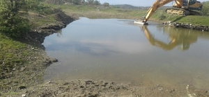 Gördes ve Gölmarmara'da göletler temizlendi