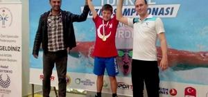 Engelli sporcudan büyük başarı