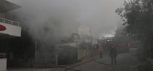 Mut'ta ev yangını korkuttu