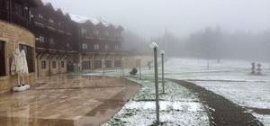 Düzce'nin yüksek kesimlerinde kar yağışı
