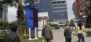 Akdeniz Belediyesi'nin gelir-gider tablosu ışıklı panoda