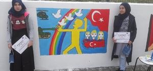 """Sinop'ta """"15 Temmuz Kahramanları ve Şehitleri"""" konulu resim yarışması"""