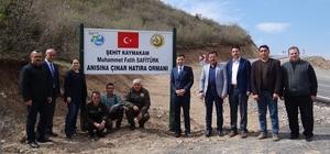 Şehit Kaymakam Safitürk'ün anısı hatıra ormanında yaşatılacak