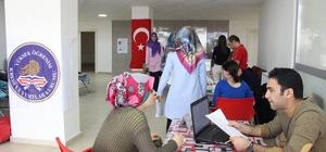 Kars KYK öğrencilerinden kan bağışı