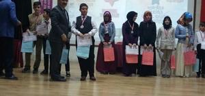 Kur'an-ı Kerim Güzel Okuma Yarışması'nda derece elde eden öğrenciler ödüllendirildi