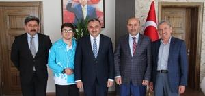 Halterci  Yavuz Başkan Cabbar'ı ziyaret etti