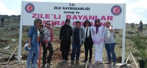 Bayanlardan Zile'ye hatıra ormanı