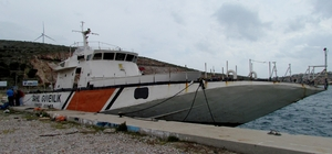 Sahil güvenliğin emektar gemisi Çeşme'de batırılacak