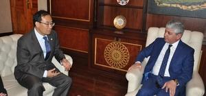 Kore Büyükelçisi Yunsoo Cho'dan Vali Doğan'a ziyaret